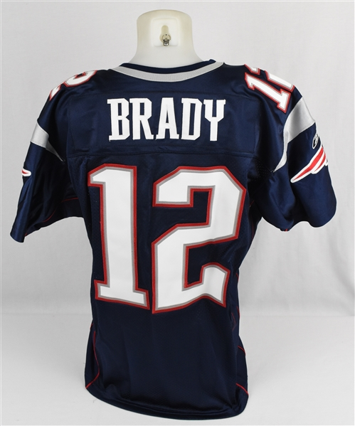 Tom Brady 2007 New England Patriots Game Used Jersey MEARS