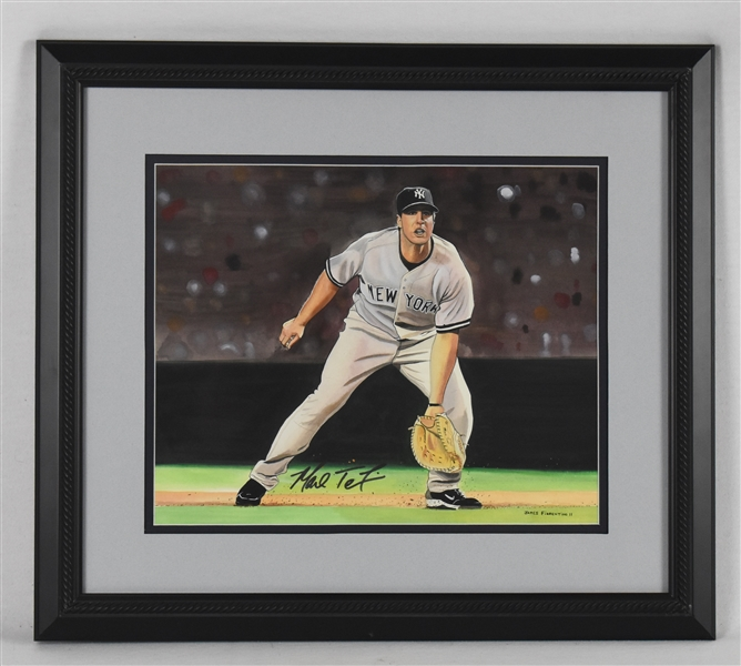 Mark Teixeira Original James Fiorentino Watercolor Painting