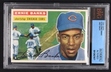 Ernie Banks 1956 Topps #15 Baseball Card BGS Authentic