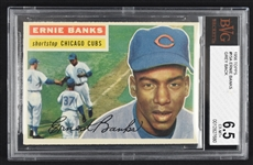 Ernie Banks 1956 Topps #15 Baseball Card BGS 6.5 EX-MT+