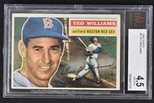 Ted Williams 1956 Topps #5 Baseball Card BGS 4.5 VG-EX+