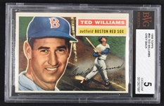 Ted Williams 1956 Topps #5 Baseball Card BGS 5 EX