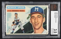 Warren Spahn 1956 Topps #10 Baseball Card BGS 3.5 VG+