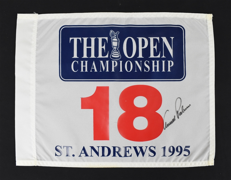 Arnold Palmer Autographed British Open Golf Flag