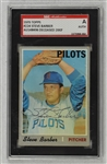 Steve Barber 1970 Seattle Pilots Autographed Card SGC