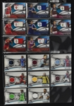 Collection of 16 Topps 2013 & 2014  Premier Gold Relic Game Used Soccer Cards
