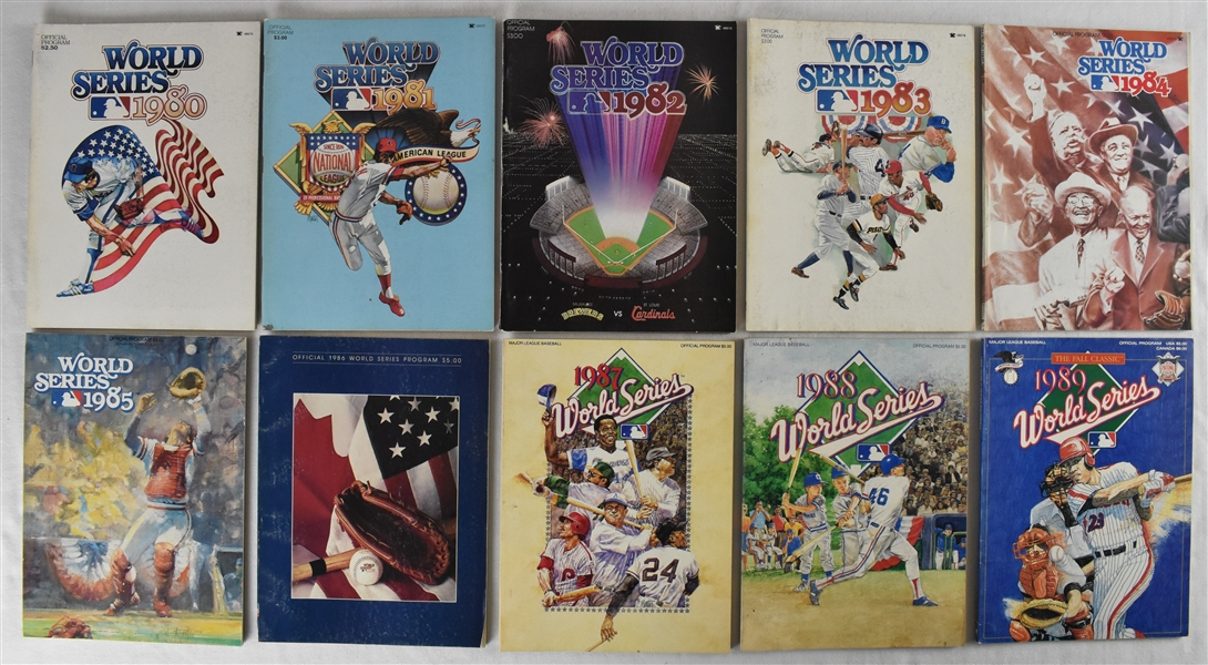 Collection of 1980-1989 World Series Programs
