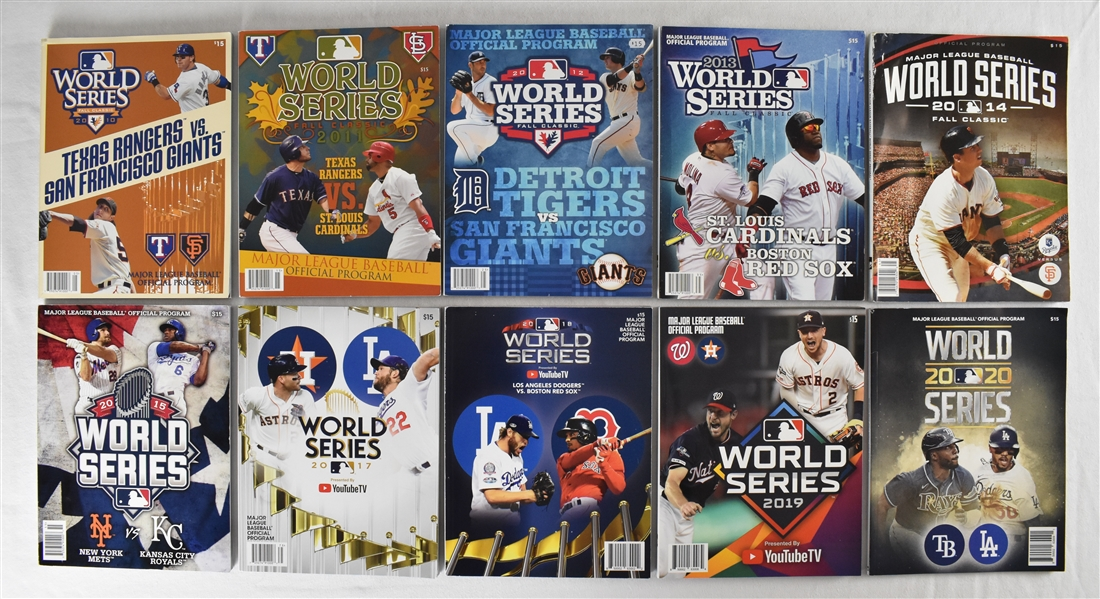 Collection of 2010-2020 World Series Programs