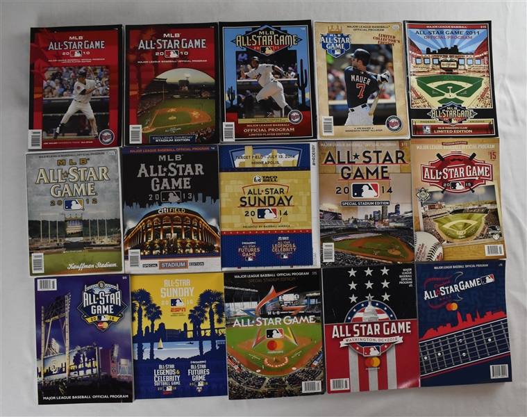 Collection of 2010-2019 All-Star Game Programs