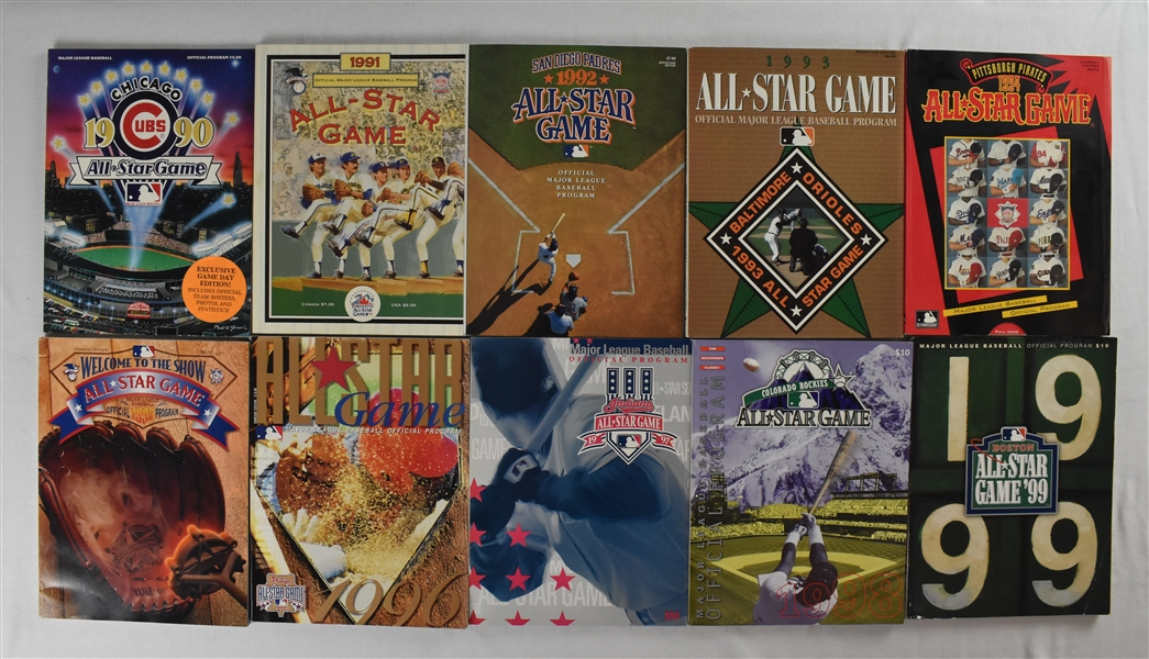 Collection of 1990-1999 All-Star Game Programs