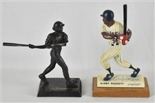 Kirby Puckett & Rod Carew Autographed Statues