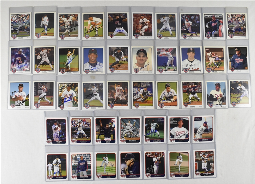 Minnesota Twins Collection of 44 Autographed 4x5 Cards