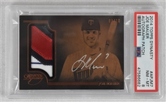Joe Mauer 2016 Topps Dynasty Autographed Patch Card #7/10 (Mauers Jersey Number) PSA 8 NM-MT