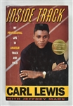 Carl Lewis Signed & Inscribed Book to Sid Hartman