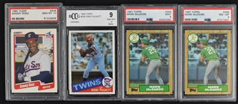 Kirby Puckett Mark McGwire & Sammy Sosa Lot of 4 Graded Rookie Cards