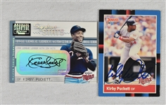 Kirby Puckett Lot of 2 Autographed Cards