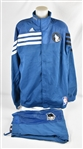Chris Johnson 2013-14 Minnesota Timberwolves 25th Anniversary Season Game Issued Warm Up Jacket & Pants